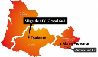 LEC Grand Sud - Les régions du Grand Sud