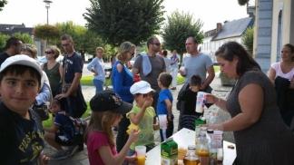 Les enfants ont bien participé et apprécié le goûter / Photo N.D.