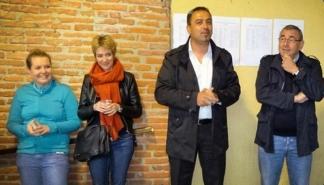 Marie Averous, Cathy Hourriez, Kamyar Majdfar, directeur général de LE&C Grand Sud et Daniel Calas / Photo DDM, Liliane Guillotreau