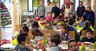 Repas de fête avant des vacances pour tous à Caussade