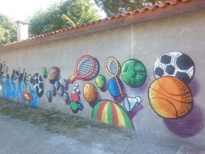 Graff réalisé par les jeunes le 10 juillet 2015